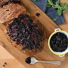 Mark McEwan's turkey meatloaf with Saskatoon berry compote